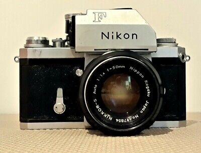 NIKON F, 35mm FILM CAMERA, F1.4,50m Lens,SLR, with Photomic T finder, Circa 1969