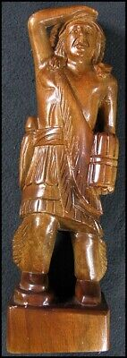 """Mid Century? Vintage Hand Carved Wood Cigar Store Indian Figure Statue 12 3/4"""""""
