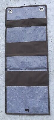 Thirty One FOLD-UP FAMILY ORGANIZER Grey Pin Dots Brand New In Package