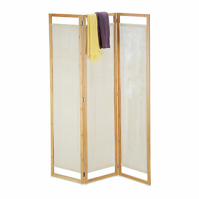 Room Divider Partition Privacy Screen Folding 3 Panel Opaque Paravent Bamboo