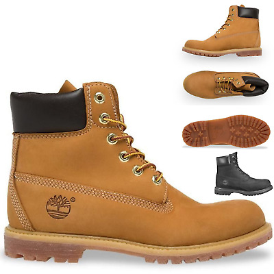 """Timberland Women's Premium 6"""" Waterproof Leather Boots Shoes"""