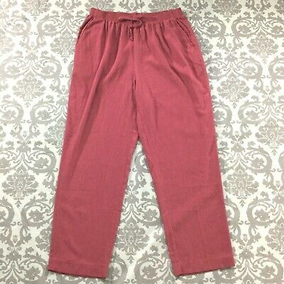 Alfred Dunner Womens Pants sz 18W Dark Mauve Pink Pull On Gauze Stretch Straight