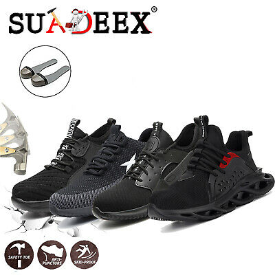 Mens Safety Shoes Trainers Steel Toe Cap Boots Hiking lightweight Sports Sneaker