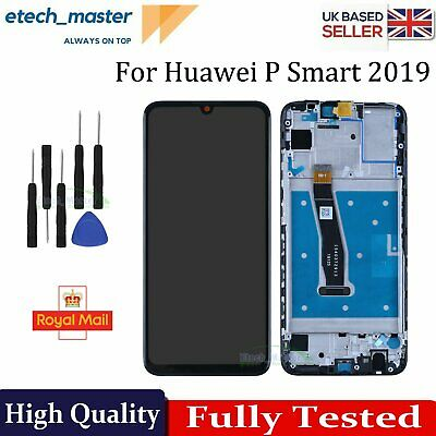 For Huawei P Smart 2019 LCD Black Touch Screen Digitizer Replacement Frame +Tool