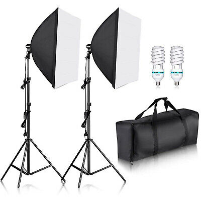 Neewer 700W CFL Studio Kit d'Eclairage avec Soft Box 60 x 60 cm