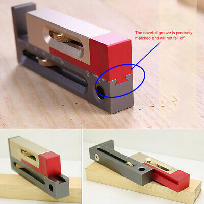 Adjustable Woodworking Tables Measuring Blocks Saw Slot Mortise & Tenon Tool