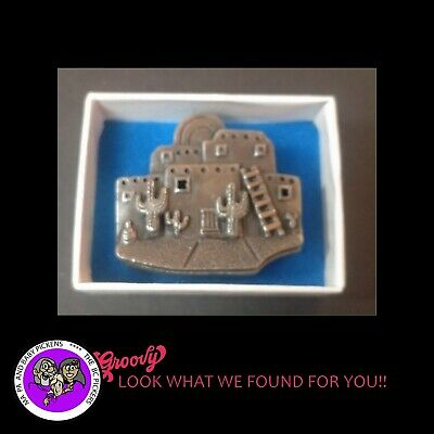Torino Jewelry Trinket Box 'Pueblo Cactus Mexico' Pin Earrings and Necklace Set