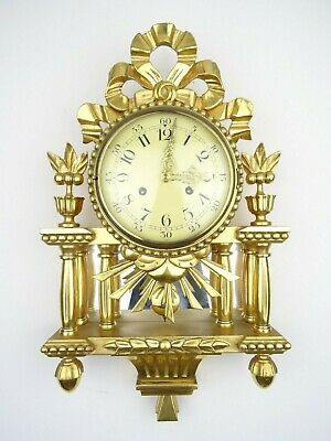 Swedish Westerstrand Vintage Gustavian Antique Wall Clock Mid Century (Mora era)