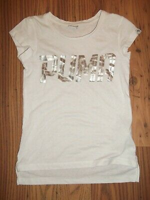 Girls White Puma T-Shirt Age 7-8 Years