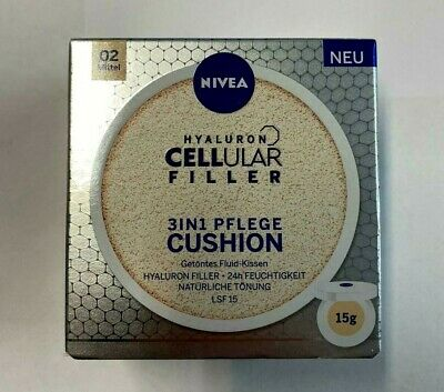 NIVEA Hyaluron CELLular 3in1 Pflege Cushion 15g- Make-Up LSF15 02 mittel