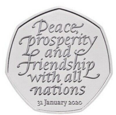 *~*Brexit 50p Coin 2020 Fifty Pence - sealed bag Uncirculated - Very Nice *~*