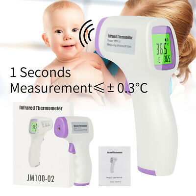 Non Contact Digital IR Infrared Forehead Thermometer Gun Adult Body TemperatureR
