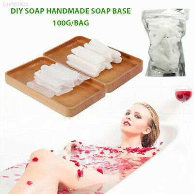 C9A3 0AFD E192 Transparent Clear 100g Soap Making Base Saft Raw Materials