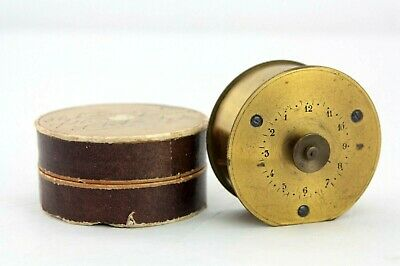 Antique brass clockwork timer, table top marked AR, Brevete 1902, and Coq image