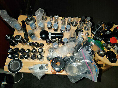Microscope Lens, Eyepiece, Condenser and Accessorie lot