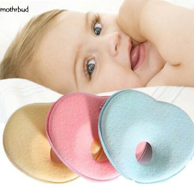 Newborn Infant Baby Soft Heart Shape Pillow Sleeping Support Prevent M5BD