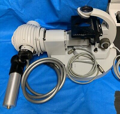 Zeiss UV Ultraviolet  Microscope Assembly With HBO Lamphouse & Scope & Lamp