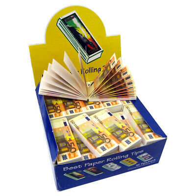 Smoking Filter Tips €50 Euro Sign Roaches Rolling Paper Chlorine & Chemical Free