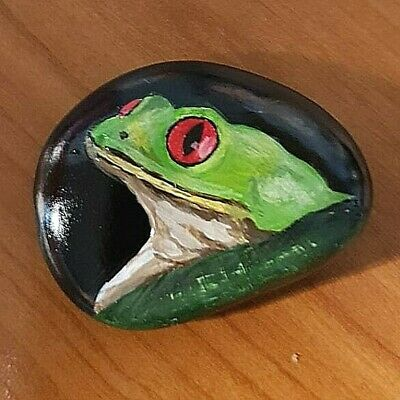 Tree Frog - Hand Painted Rock