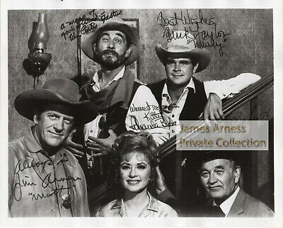 James Arness Private Collection Gunsmoke Cast 8 x 10 Photo  With Buck Taylor