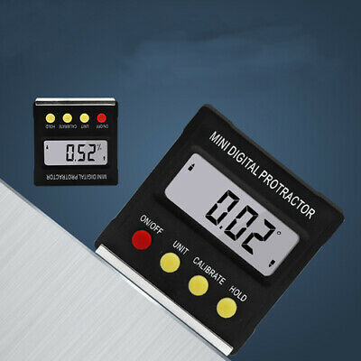 LCD Digital Inclinometer Mini Protractor Angle Finder Bevel Box Magnetic Gauge