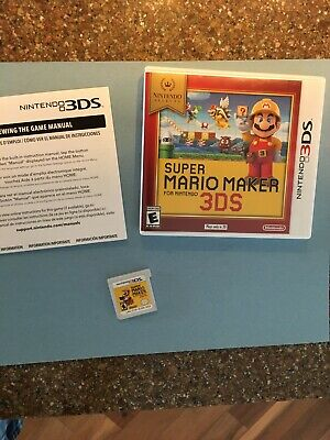 Super Mario Maker For Nintendo 3DS Complete With Case