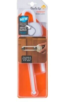 """Safety 1st Slide Lock OutSmart Decoy Button Fits Knobs/Handles up to 4.75"""" Apart"""