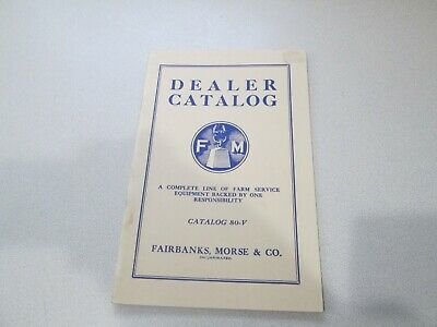 Antique FAIRBANKS MORSE CO DEALER CATALOG Book Gas Oil Engines Reprint??