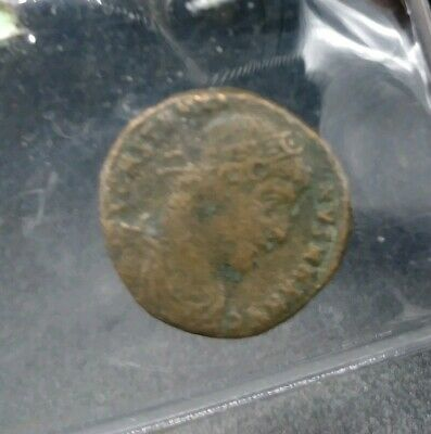 ROMAN BRONZE COIN FOLLIS CONSTANTINE THE GREAT CAMPGATE ANTIOCH Ancient (d3)