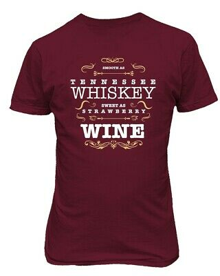 Smooth as Tennessee Whiskey, Sweet as Strawberry Wine Country Music Men's Tshirt