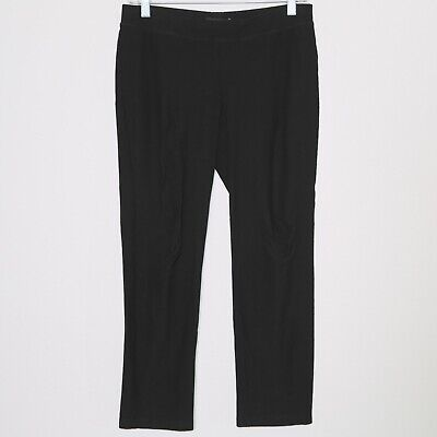 EILEEN FISHER Black Stretch Casual Dress Pants Women's Size XS Extra Small 🔥