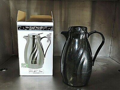 Case of 12 Service Ideas Insulated Coffee Pot Carafes w/ Twist Top Lid - 2 Liter
