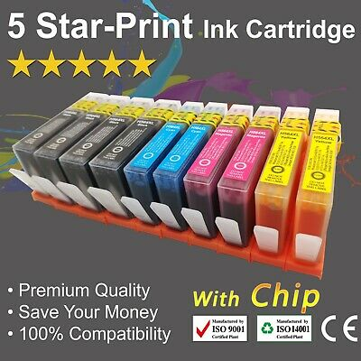 10 Ink Cartridges for HP564XL Photosmart 4620/5510/5520/6520/7510/7520 with chip