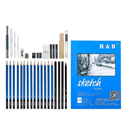 35pcs Professional Drawing Sketching Pencil Charcoal Art Painting  Artists Kit