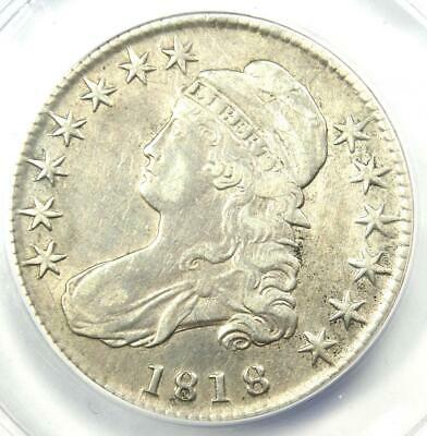 1818 Capped Bust Half Dollar 50C - ANACS XF40 Detail (EF) - Rare Certified Coin!