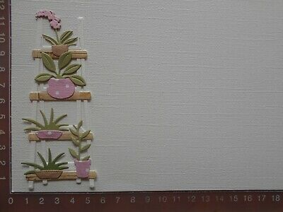 Die cuts - Shelves (Assembled), Plants, Card Toppers, Embellishments - Lot 2