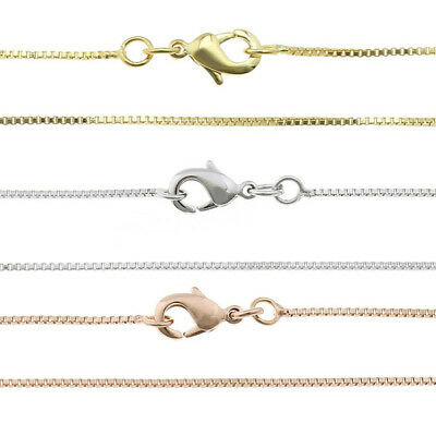45cm Filigree Venetian Chain Necklace Ø0 , 8mm Silver, Gold & Pink