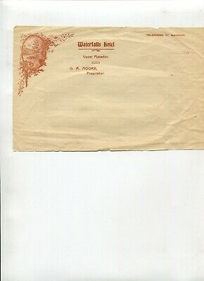 Letterhead Waterfalls Hotel Upper Macedon C 1910