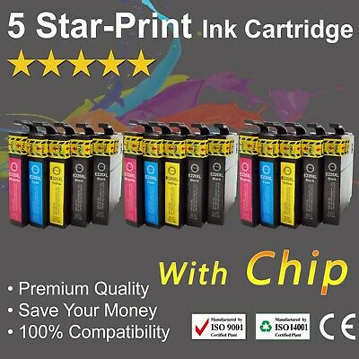 15 Ink Cartridges for Epson 220XL XP-324 XP-320 XP-420 WF-2630 WF-2650 with chip