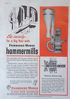 1948 Ad.(Xd19)~Fairbanks-Morse Co. Chicago. Farm Ensilage Hammer Mills