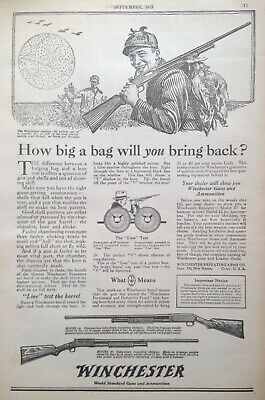 1919 Ad(Xe14)~Winchester Repeating Arms Co. New Haven, Conn. Guns And Ammunition