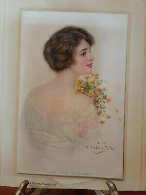 Vintage William Haskell Coffin Sweet Little Buttercups Adverising Print 1915.