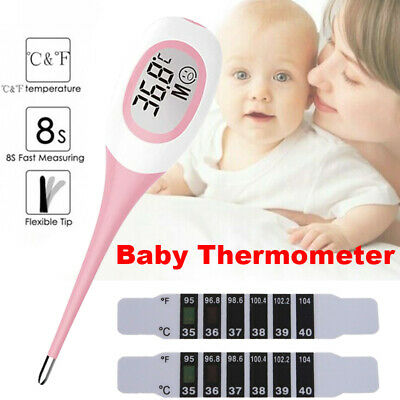LCD Digital Thermometer Medical Baby Adult Human Fever Check Safe Temperature