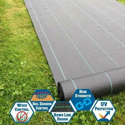 Heavy Duty Fabric Weed Control Sheet Membrane Garden Ground Cover Landscape Mat
