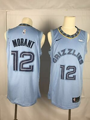 NEW Memphis Grizzlies #12 Ja Morant Light Blue Swingman Jersey
