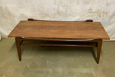 Retro Teak Coffee Table - Magazine Rack Under - Mid Century