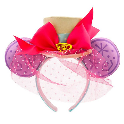 Minnie Mouse The Main Attraction Ear Headband Mad Tea Party Limited Edition NEW