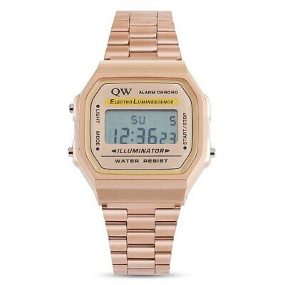 NEW Casio Unisex Digital Quartz Stainless Steel Watch Alarm Calendar 168WA NEW