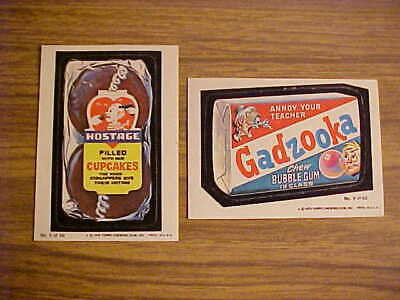 1979 Series 1 Wacky Packages LOT: 2 of 66 Sticker Trading Cards #6 #9 Topps Vtg