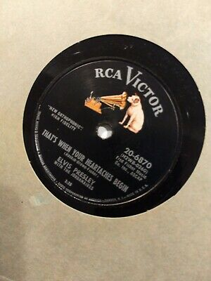 "RCA Victor 20-6870 Elvis Presley ""All Shook Up"" 78 RPM Record 10"" SUPER NICE!"